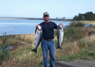 Todd with Coho