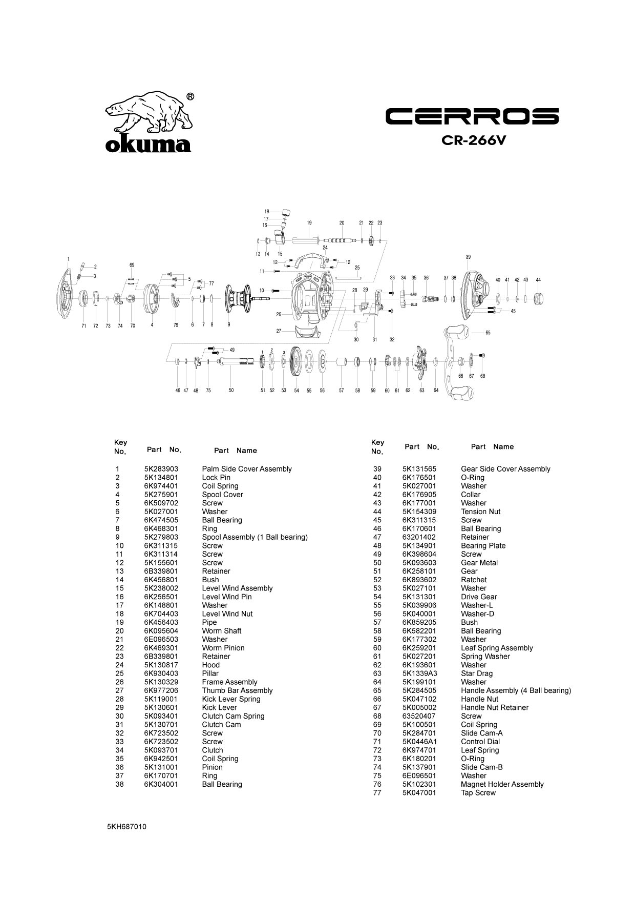 Reel Schematics - Okuma/Baitcast Reels-Low Profile ... on